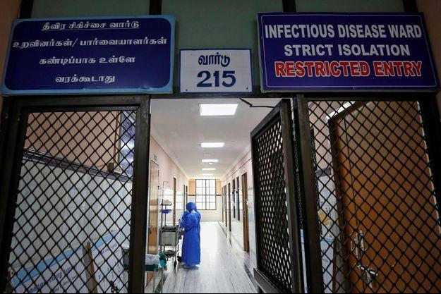 Dans un hôpital de Chennai, en Inde, en janvier 2020.