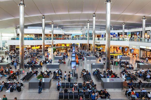 Aéroport d'Heathrow, à Londres.