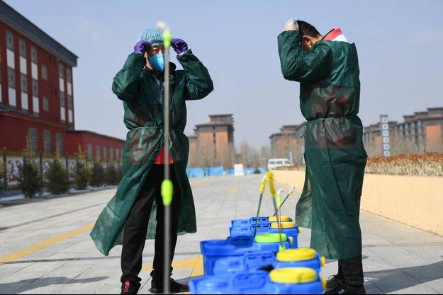 A Hohhot, en Mongolie-Intérieure, en mars 2020.