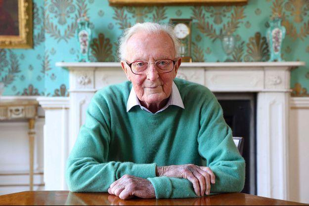 Lord Carrington chez lui à Bledlow, Buckinghamshire, en 2013