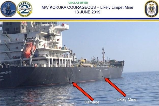 Le Kokuka Courageous a subi deux attaques en mer d'Oman.