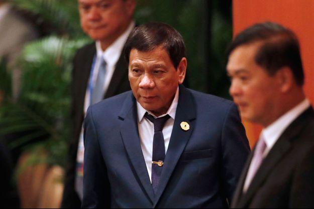Rodrigo Duterte à Danang au Vietnam le 10 novembre 2017