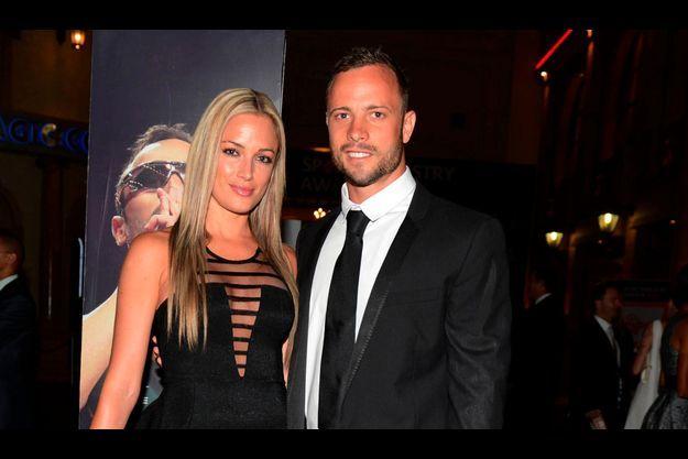 Reeva Streenkamp et Oscar Pistorius, le 7 février dernier.