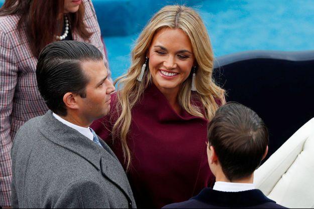 Vanessa Trump, avec son époux, Donald Trump Jr. le 20 janvier 2017, lors de la cérémonie d'investiture de Donald Trump.