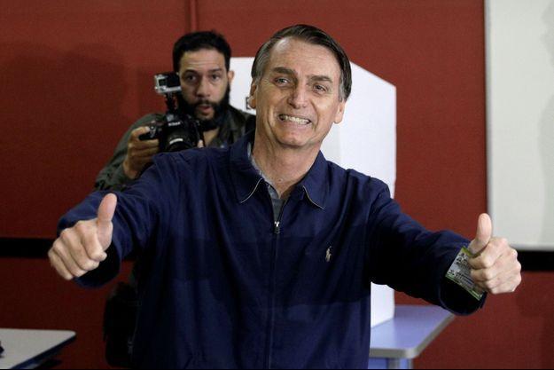 Jair Bolsonaro, le jour du vote du premier tour de l'élection présidentielle.