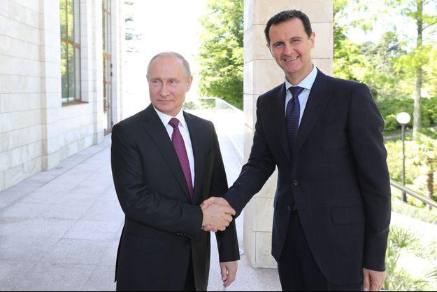 Vladimir Poutine et Bachar al-Assad à Sotchi.