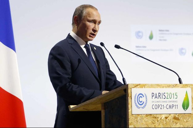 Vladimir Poutine à la COP21 à Paris.
