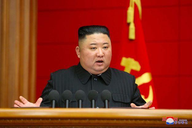 Kim Jong Un sur une photo diffusée le 7 mars 2021.