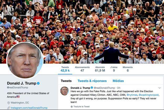 Le compte Twitter de Donald Trump