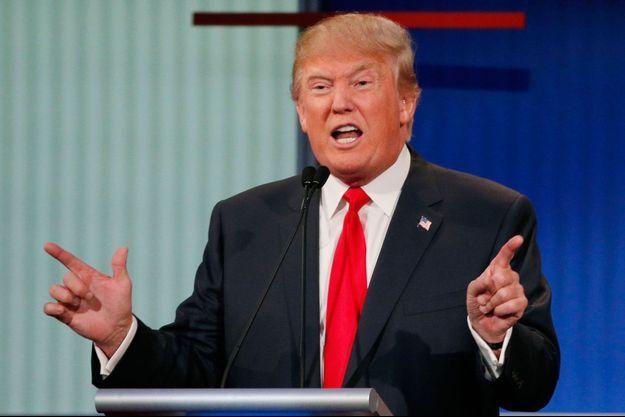 Donald Trump lors du premier débat des républicains américains, jeudi.