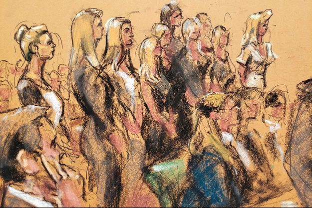 Seize femmes ont témoigné mardi devant le tribunal de Manhattan.