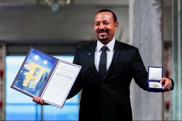 Le Premier ministre éthiopien Aby Ahmed, lors de la remise du prix Nobel, à Oslo.