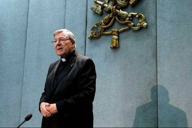Le cardinal George Pell en juin 2017 au Vatican.