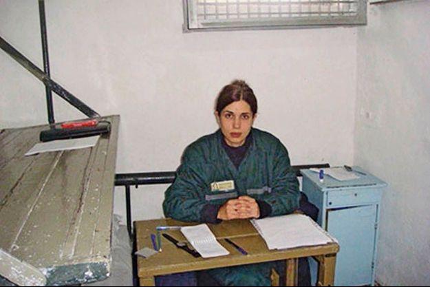 Nadia dans la section d'isolement de la colonie 14 juste après le début de sa grève de la faim.