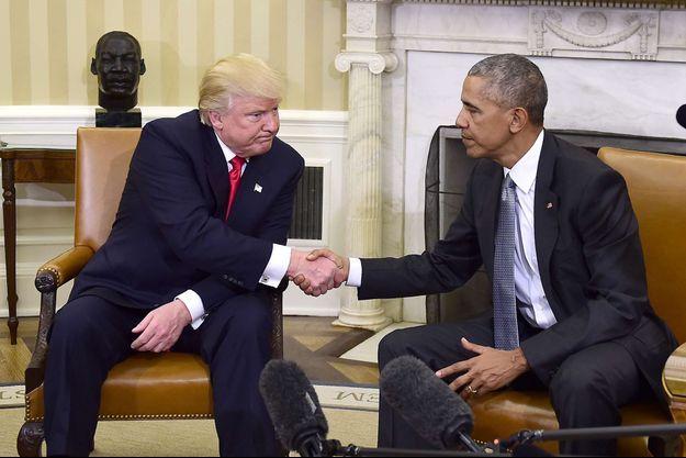 Donald Trump et Barack Obama, le 10 novembre 2016.