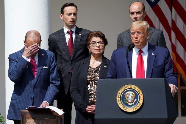 Donald Trump lors d'une conférence de presse donnée le 6 juin 2020.