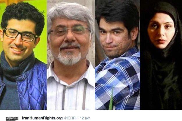 Davoud Assadi, Ehsan Mazandarani, Ehsan Safarzayi et Afarine Chitsaz.