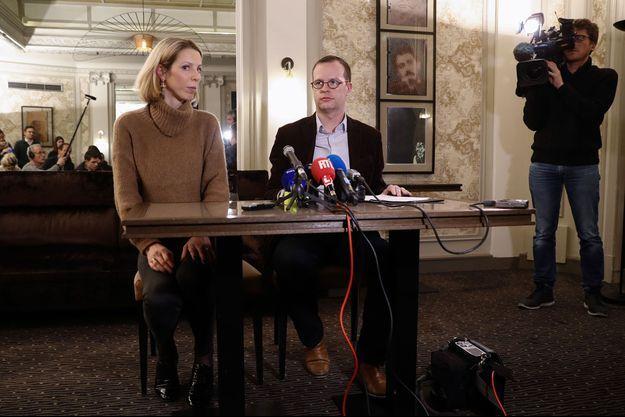 Lors d'une conférence de presse SOS Chrétiens d'Orient, le 24 janvier dernier.