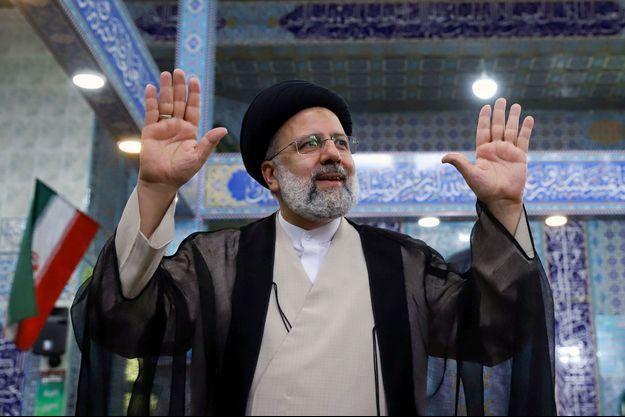 Ebrahim Raïssi à Téhéran, vendredi.