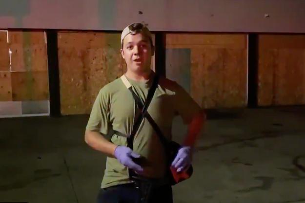 Kyle Rittenhouse sur la vidéo du journaliste du Daily Caller.