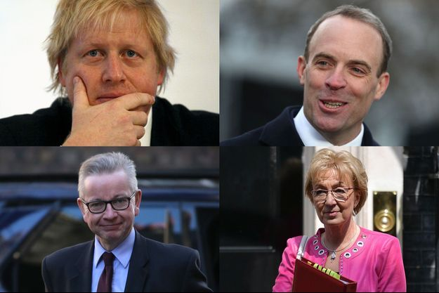 Boris Johnson, Dominic Raab, Michael Gove et Andrea Leadsom.