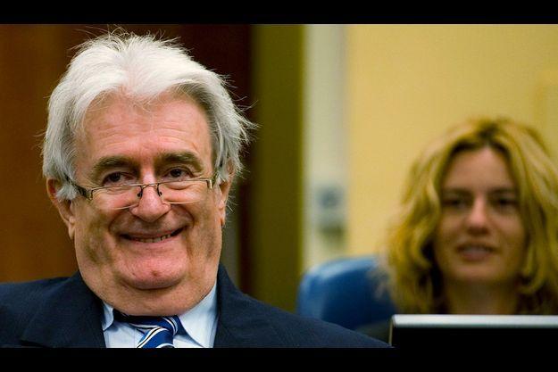 Radovan Karadzic lors de l'ouverture de son procès, ce mardi.