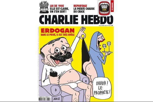 """La dernière Une de """"Charlie Hebdo"""" avec la caricature de Erdogan"""