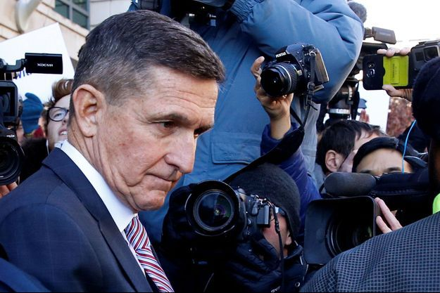 Michael Flynn à la sortie du tribunal le 18 décembre.