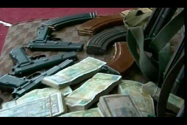 Prétendue cache d'armes à la mosquée al-Omari à Deraa en Syrie.