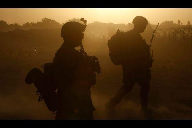 Des soldats américains lors d'une patrouille dans le district de Panjwai dans la province de Kandahar