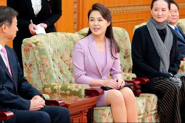 Ri Sol Ju sur une photo du 14 avril diffusée par le gouvernement de la Corée du Nord.
