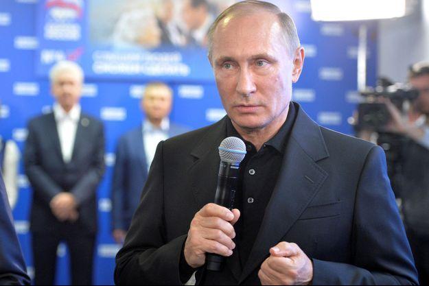Vladimir Poutine dimanche 18 septembre, à l'issue des élections.
