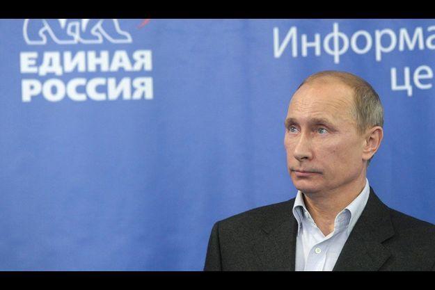 Vladimir Poutine, dimanche. Le Premier ministre juge que le scrutin reflète correctement l'opinion russe.