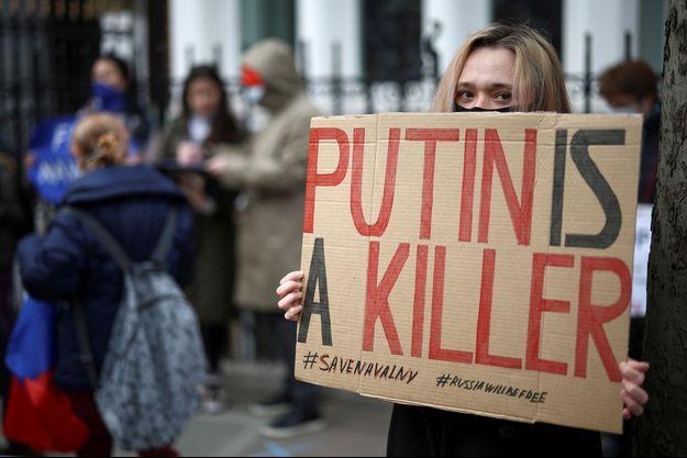 Photo prise lors d'une manifestation à Londres.