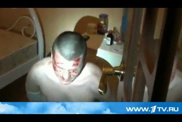 Adam Osmayev, sur une capture d'écran de la première chaîne russe.