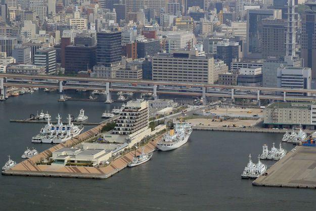 Port de Kobe au Japon.