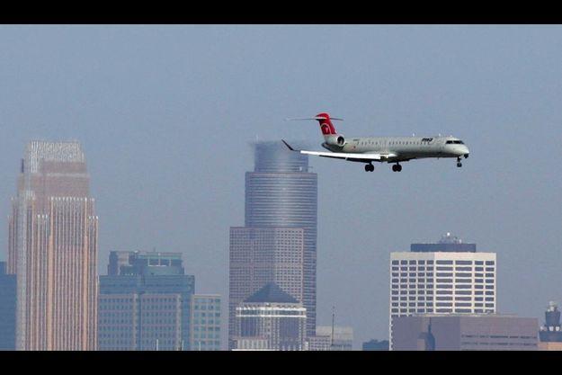 L'avion de Northwest Airlines a survolé à deux reprises Minneapolis.