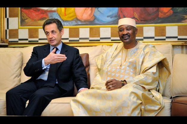Nicolas Sarkozy et Amadou Toumani Touré.