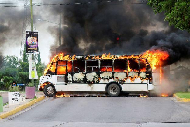 Les habitants ont tenté de fuir la ville de Culiacan, la capitale de l'Etat de Sinaloa.