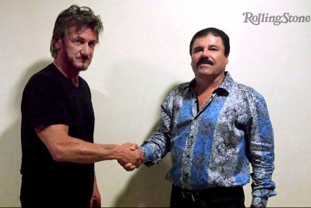 Sean Penn et El Chapo, photographiés en octobre 2015.
