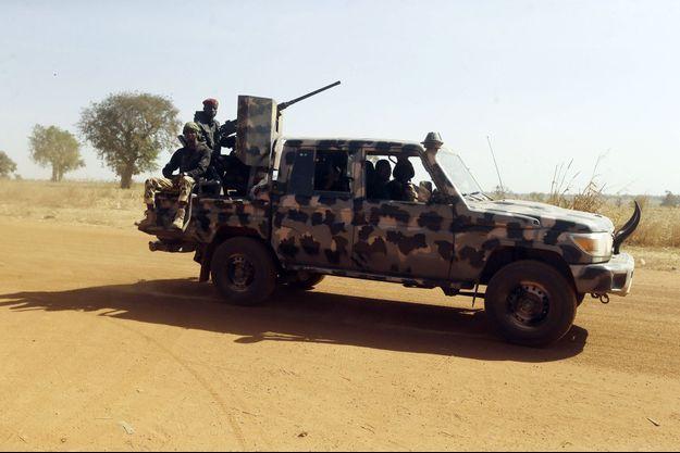 Patrouille de soldats nigérians dans l'Etat de Katsina, en décembre 2020.