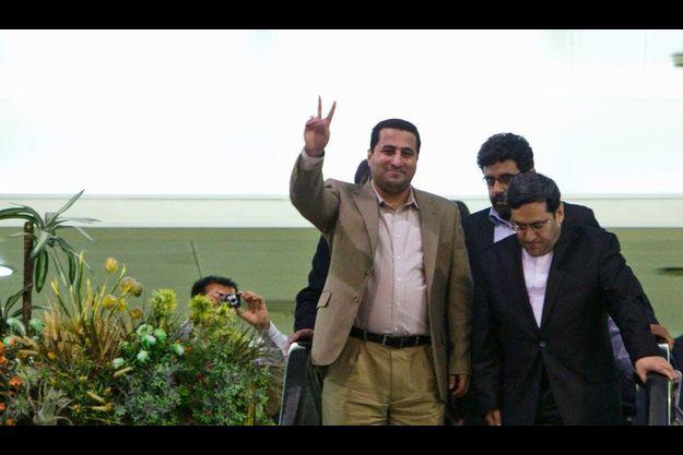 Shahram Amiri, à son arrivée en Iran