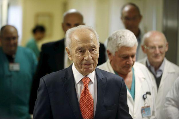 L'ancien président israélien Shimon Peres a quitté l'hôpital ce mardi.