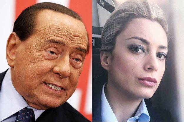 Silvio Berlusconi et Marta Fascina (montage)