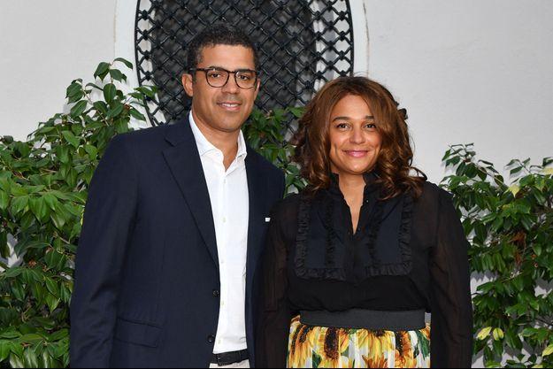 Sindika Dokolo et Isabel Dos Santos au Cap d'Antibes lors d'une soirée organisée pour la Fondation d'Elton John en juillet 2019