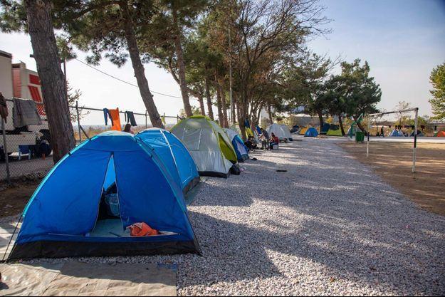 Le camps de réfugiés de Diavata en Grèce.