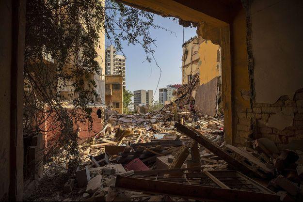 De nombreux bâtiments ont été soufflés par l'explosion mardi dernier à Beyrouth.