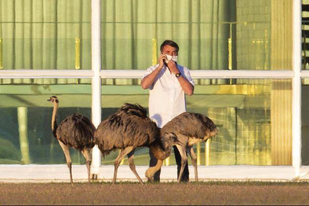 Jair Bolsonaro est toujours en quarantaine dans son palais présidentiel à Brasilia.