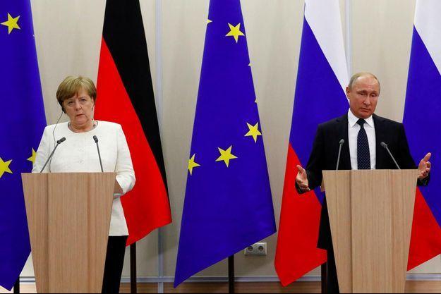 Angela Merkel, Vladimir Poutine