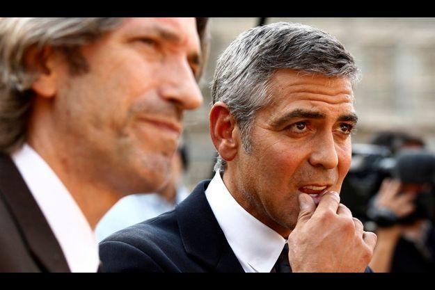 John Prendergast et George Clooney.